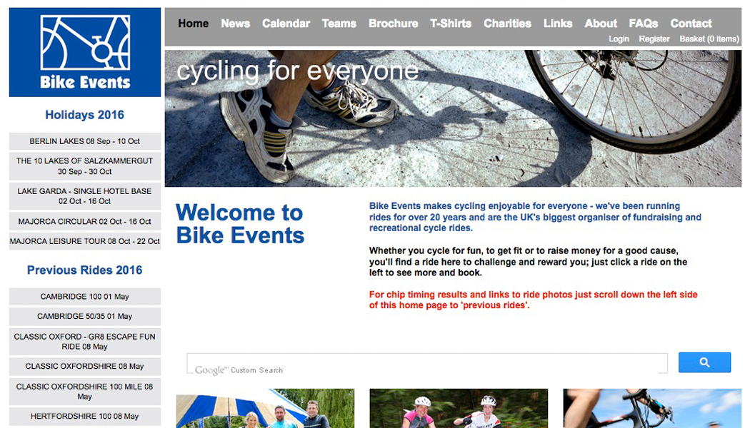 Bike Events - fundraising and recreational cycle rides