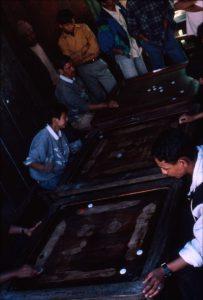 Playing Carom - Darjeeling