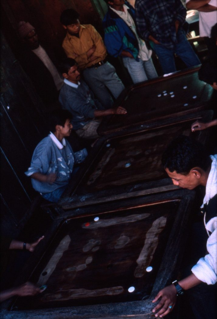 Playing Carom - Darjeeling