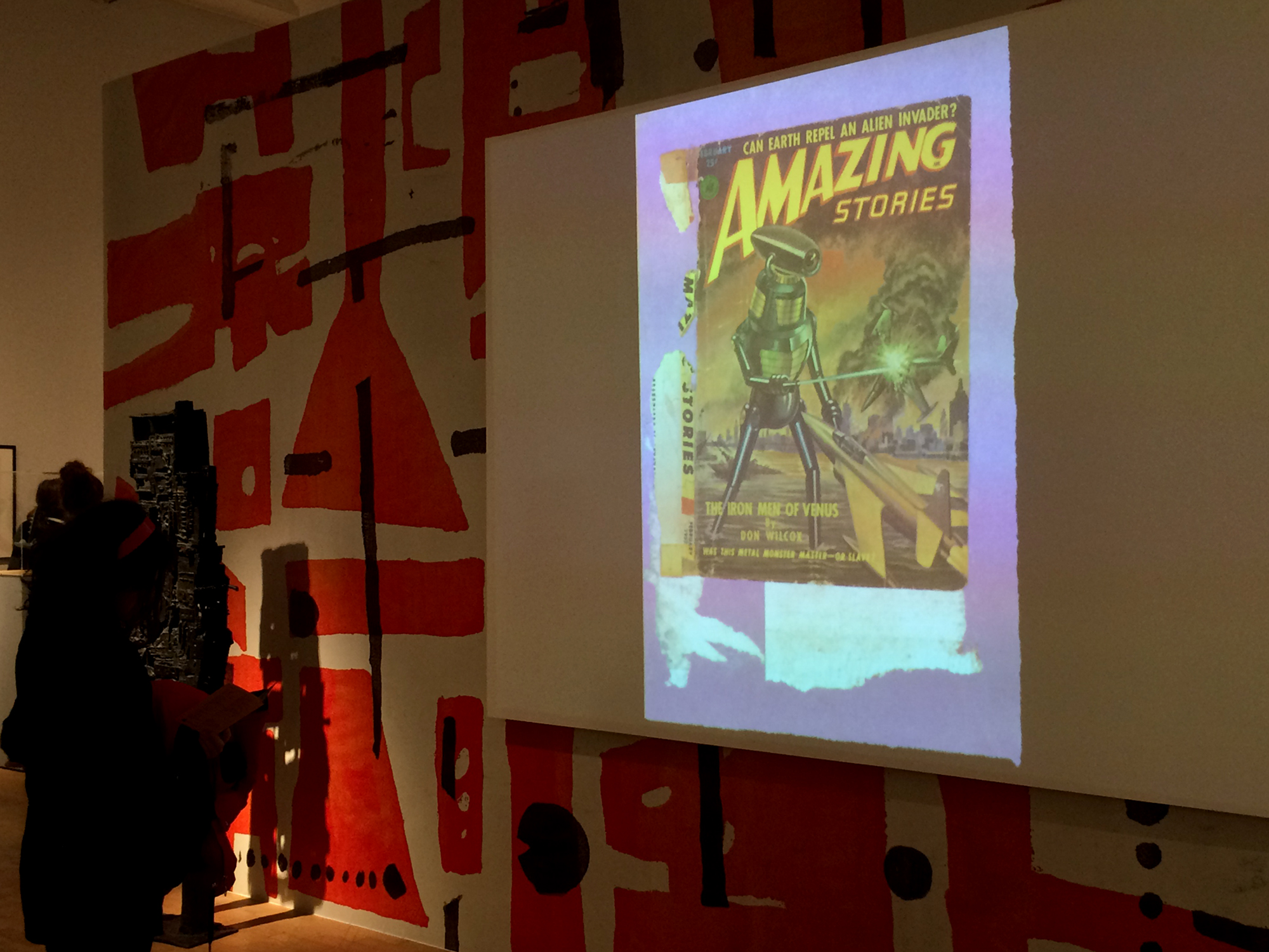 Paolozzi projected images